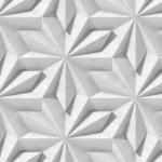 Mẫu hoa văn 3D in trên kính trang trí nội thất