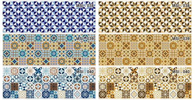 Mẫu kính vân hoa mosaic