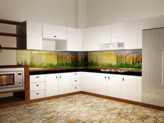 Tranh phong cảnh ốp bếp