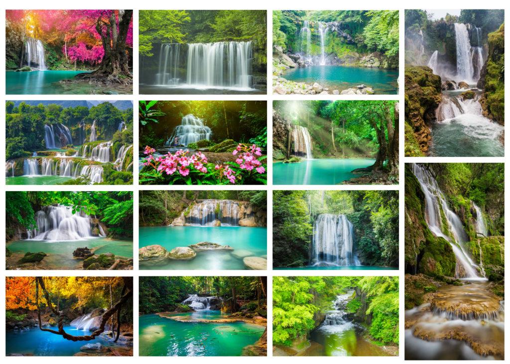 Tranh thác nước đẹp